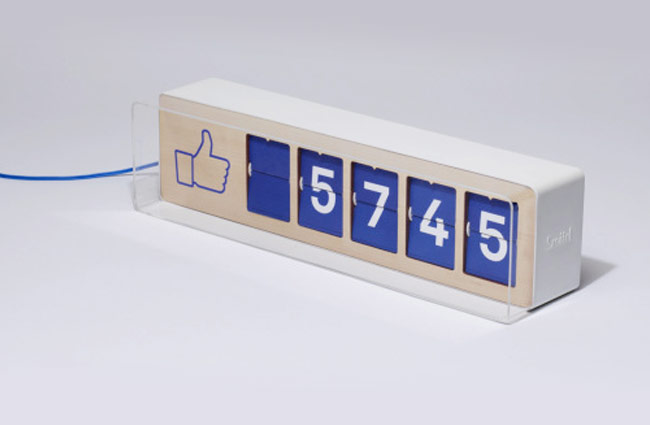 Fliike Physical Facebook Fan Counter