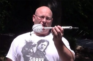 Lethal Toilet Brush Revolver Crossbow Created By Slingshot Master (video)