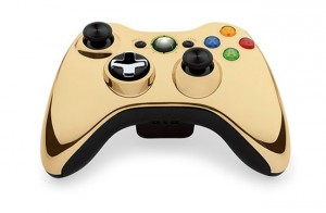 Xbox 360 Special Edition Chrome Series Gold Wireless Controller