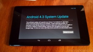 Nexus 7 Received Two New Android 4.3 Updates