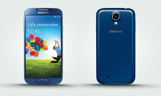 Blue Galaxy S4