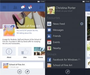 Facebook 5.0 For Windows Phone 8 Released