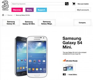 Samsung Galaxy S4 Mini Now Available From Three UK