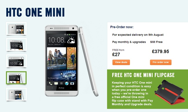 HTC One Mini Launching in UK on August 9