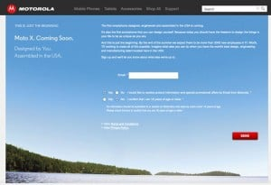 Moto X Sign Up Page Appears On Motorola's Website