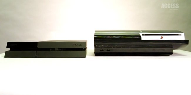 Sony Compares PS4 To PS3 To Show How Slim It Is - Geeky Gadgets