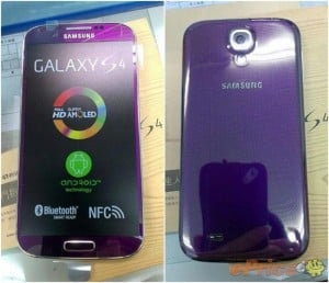 Purple Samsung Galaxy S4 Poses For The Camera