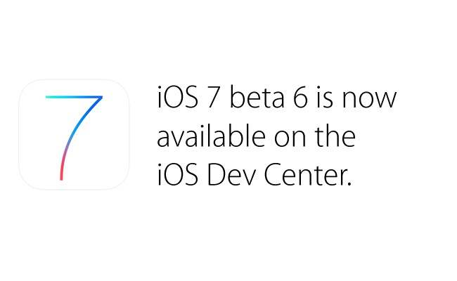 Apple iOS 7 Beta 6