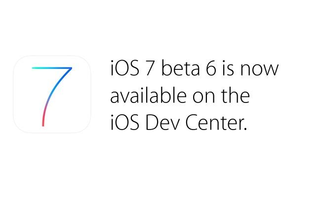 Apple iOS 7 Beta 6