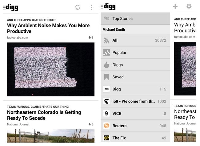 Digg Reader Android