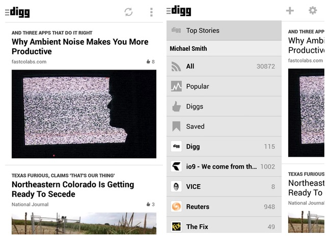Digg Reader Android