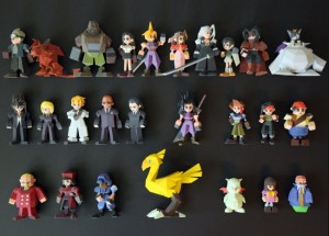 Final Fantasy VII Characters 3D Printed