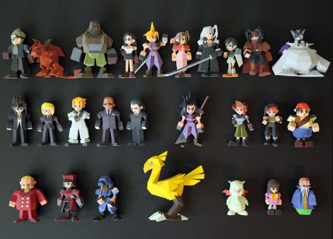 Final Fantasy VII Characters 3D Printed