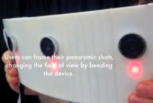 FlexCam Compound Camera Equipped With Thin-film Flexible OLED Screen (video)