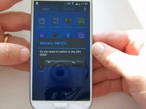 Samsung Galaxy S4 MoDaCo.SWITCH App Enables Android Version Switching