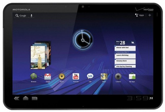 Verizon Motorola Xoom Android 4.1.2 Update Released