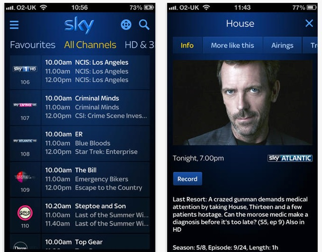 Sky+ iOS App Update Enables Sharing And Enhanced Searching