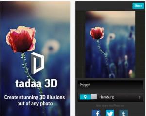 Tadaa 3D Instagram Style Photo App Allows 3D Photo Creation
