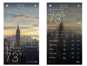 Yahoo Weather App Launches On To Android Devices