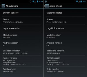 Android 4.3 OTA Update Available of Google Edition HTC One and Galaxy S4