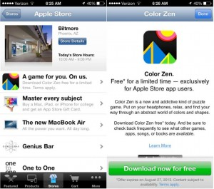 Apple Offering Free Content Through App Store App