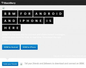BBM For Android and iPhone Landing Pages Spotted In The Wild