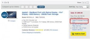 Deal: Best Buy Offering Apple TV With Macbook Pro Retina Purchase