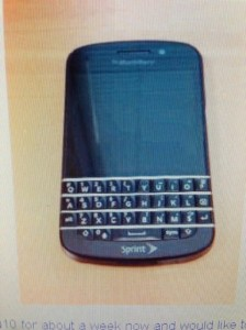 BlackBerry Q10 Spotted With Sprint Branding