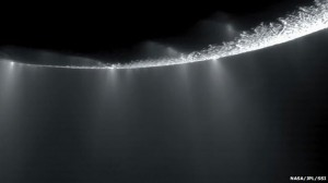 Hot Water Geysers on Saturn's Moon Caused by Gravitational Pull