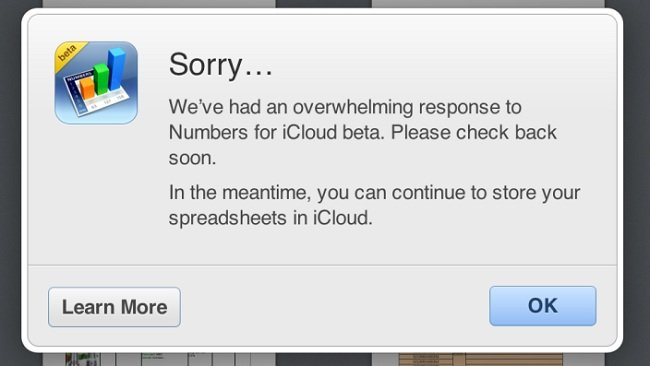 Apple Restricting Access to iWork for iCloud Due to Overwhelming Response