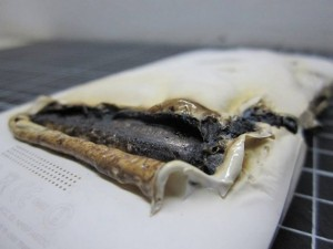 HTC One X overheats and bursts into flames while charging