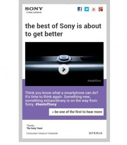 Sony Sending Out Emails, Says Something Extraordinary is Coming