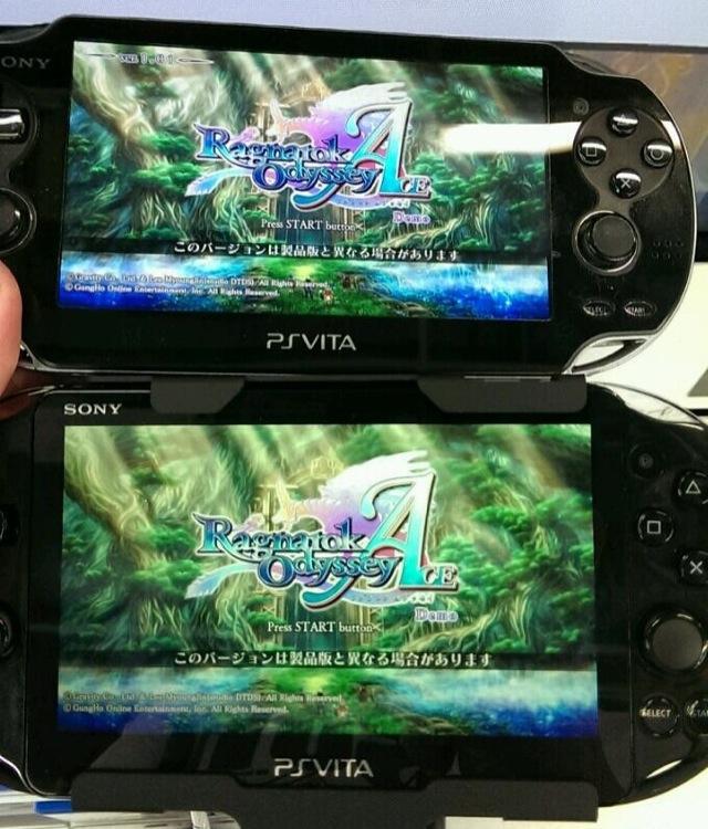 PS Vita LCD vs OLED Screen Comparison