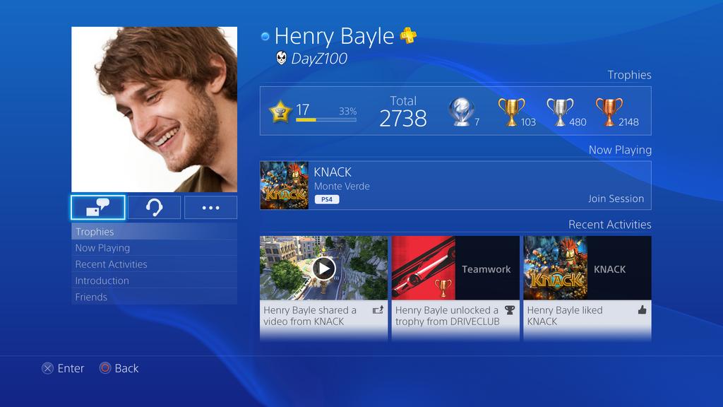 سونى تكشف عن صور الواجهة الرئيسية لجهاز PlayStation 4