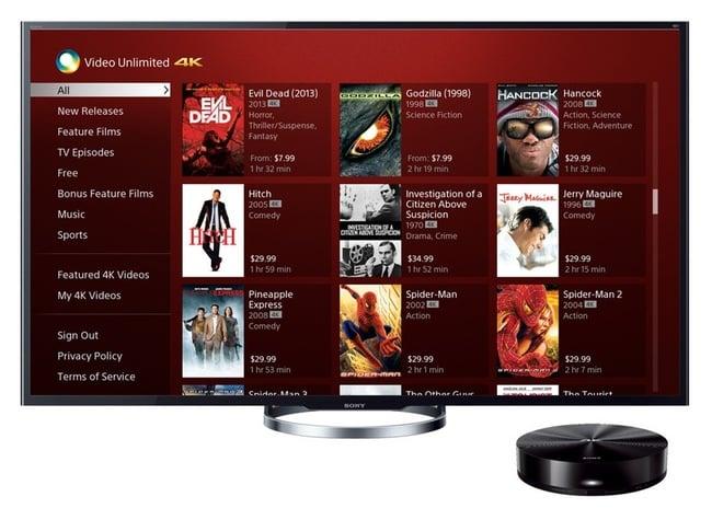 Sony Video Unlimited 4K