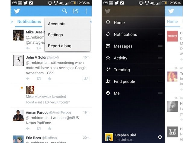 Twiiter Android app