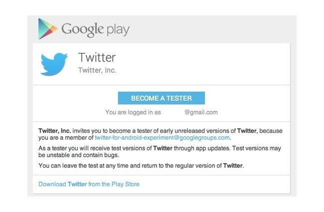 Twitter For Android Beta Test Program