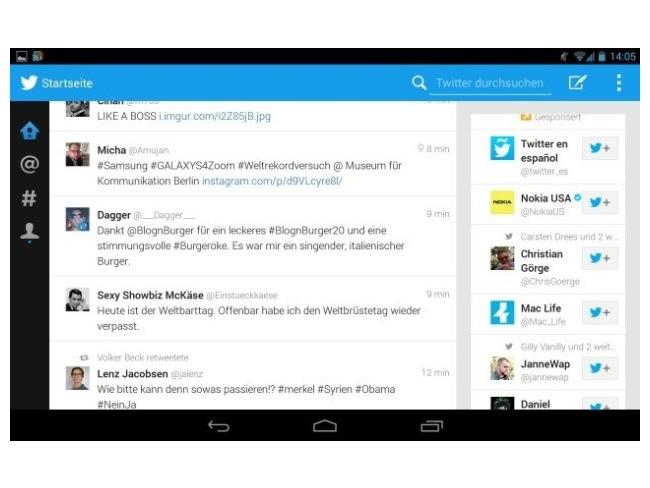 Twitter Tablet App