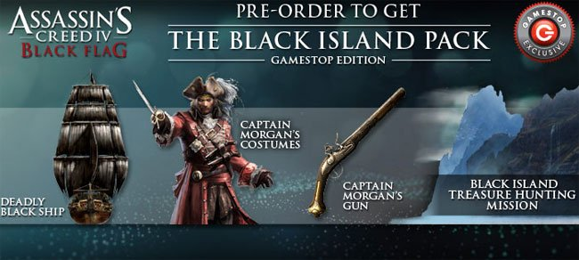 Assassin's Creed IV Black Flag Pre-Order Extras Unveiled ...