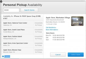 Apple Launched In-Store Personal Pickup for iPhone 5S and iPhone 5C