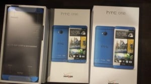 Blue HTC One Spotted with Verizon Branding
