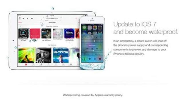 Fake iOS 7 Advert