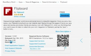 Flipboard for Blackberry Available in Appworld Again, But Only for Z30