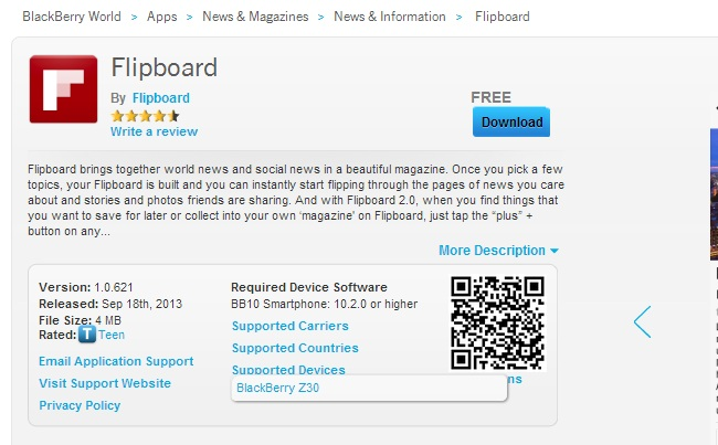 Flipboard Blackberry