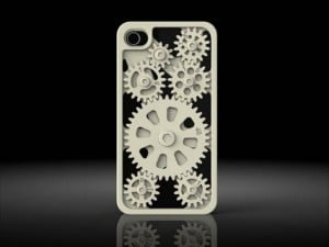 iPhone Case With Movable Gears