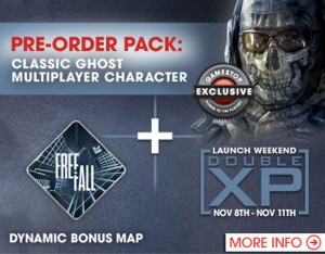 Gamestop Pre-Order Bonuses for Call of Duty Ghosts include Exclusive Character