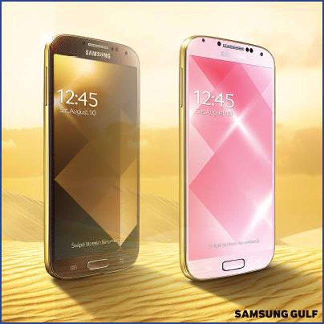 Gold Samsung Galaxy S4
