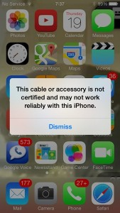 Apple Blocks Third-party Lightning Cables with iOS 7