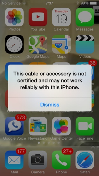 ios 7 lightning cable