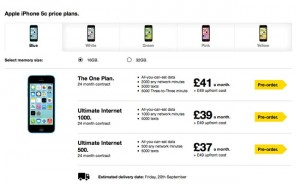 iPhone 5C Goes Up For Pre-order AT UK Carriers
